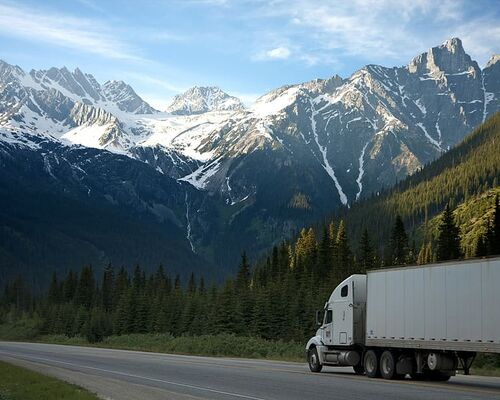 logistics-lorry-mountains-nature