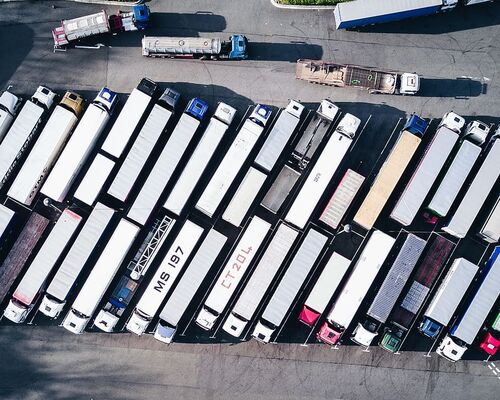 drone-view-aerial-view-lorry-truck